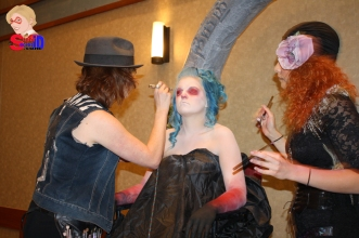 Body Painting with one of the contestants of Face Off